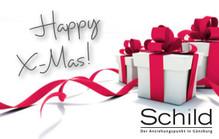 Schild Gutschein Happy X-Mas