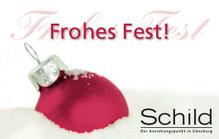 Schild Gutschein Frohes Fest