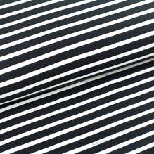 Stoffonkel Bio-Jersey Streifen - schwarz-weiß