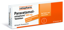 Paracetamol 500mg ratiopharm 20 Stück