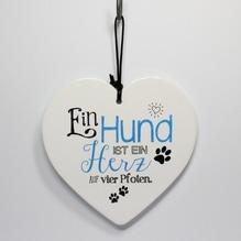 Herz 'Hund' zum Hängen