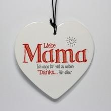 Herz 'Liebe Mama' zum Hängen