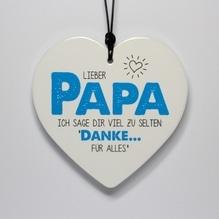 Herz 'Lieber Papa' zum Hängen