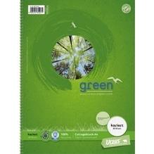 Ursus Collegeblock Green 608570020 DIN A4 70g kariert weiß 80Blatt