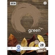 Ursus Collegeblock Green 608510028 DIN A4 70g kariert 100Blatt