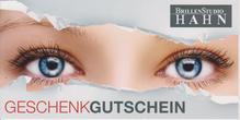 Brillenstudio Hahn, Geschenkgutschein, Gutschein