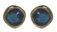 Konplott Ohrring Sparkle Twist blue crystal bermu
