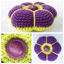 Nadelkissen Blume - gehäkelt - Handarbeit