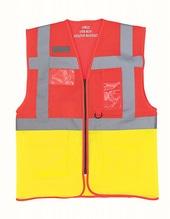 Hi Vis Top Cool Open Mesh Executive Waistcoat (Red)
