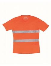 Hi Vis Top Cool Super Light V-Neck T-Shirt (Hi-Vis Orange)