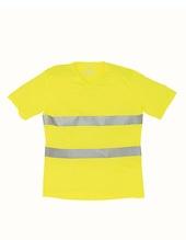 Hi Vis Top Cool Super Light V-Neck T-Shirt (Hi-Vis Yellow)