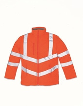 Hi Vis Kensington Jacket (with Fleece Lining) (Hi-Vis Orange)