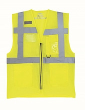 Hi Vis Top Cool Open Mesh Executive Waistcoat (Hi-Vis Yellow)
