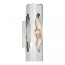 Dekorative Halogen Wandleuchte aus Aluminium geätzt