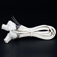 10er Kabelbaum Lampe Leuchte Kabelsatz für Einbaustrahler Kabel Leitung 12V Weiß