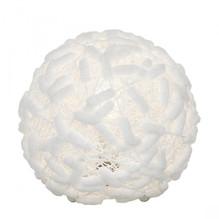 Tischleuchte Cotton, aus Baumwolle Weiß
