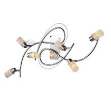 LED Deckenstrahler Nova, Deckenleuchte 6 flammig, Chrom