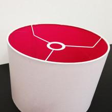 Stoff Lampenschirm E27 30cm aus Baumwolle Fuchsia