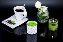 Teelichtglas Kerzenständer Blumenvase aus Porzellan Weiß Teelichthalter 6,5cm Kerzenleuchter 4563