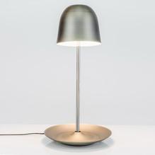 LED Tischleuchte Pirol Braun Satiniert