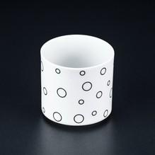 Teelichtglas Circle Kerzenständer Blumenvase Porzellan Weiß Teelichthalter 6,5cm Kerzenleuchter 4561