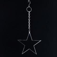 Christbaumschmuck Weihnachten Sterne klar 2873