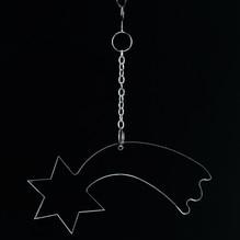 Christbaum Behang Komet klar Acryl Fensterhänger 2883
