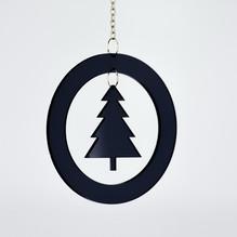 Christbaum Schmuck Weihnachtsbaum schwarz 2854 Acryl Fensterhänger