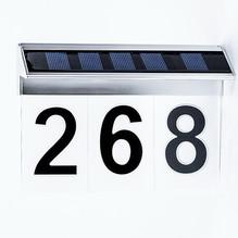 LED Hausnummernleuchte Solar für 1-3 Ziffern
