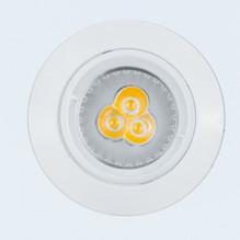 Runde LED Einbauleuchte 230V GU10 4W weiß