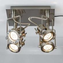 LED Deckenstrahler 4 flammig eckig Es Core