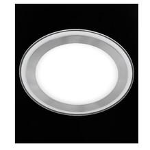 Runde LED Glas Deckenleuchte flach Lime 6W