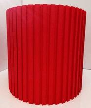 Plissee Lampenschirm Ø30 aus Baumwolle Rot Rund E27