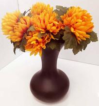 Große Blumenvase, Keramik, Braun , 32cm