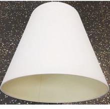 Baumwolle Lampenschirm E27 Ø25 Weiß Rund