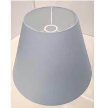 Lampenschirm E27 konisch Ø40 aus Baumwolle Blau