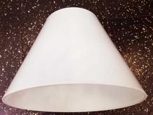 Lampenschirm Ø32 aus PCV, Lack weiß Rund E27
