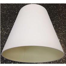 Lampenschirm E27 Ø34 Textil Weiß mit feinen Streifen