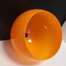 Kugel Lampenschirm orange E27 für Bogenleuchte Ø35