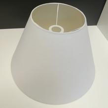 Stoff Lampenschirm für Tischleuchte weiß Ø43 E27