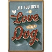 PfotenSchild Blechpostkarte- Love Dog