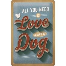 PfotenSchild Blechschild- Love Dog