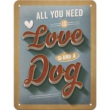 PfotenSchild Blechschild  15x20cm- Love Dog