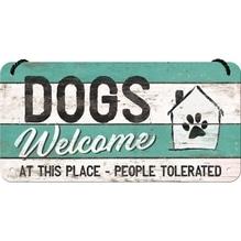 PfotenSchild Hängeschild- Dogs Welcome