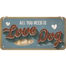 PfotenSchild Hängeschild- Love Dog