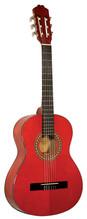 KIRKLAND Classic 3/4 Konzertgitarre hochglänzend rot