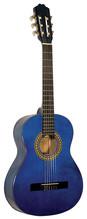 KIRKLAND Classic 3/4 Konzertgitarre hochglänzend blau