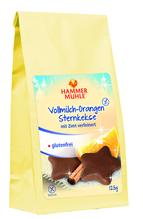 Vollmilch-Orangen-Sternkekse