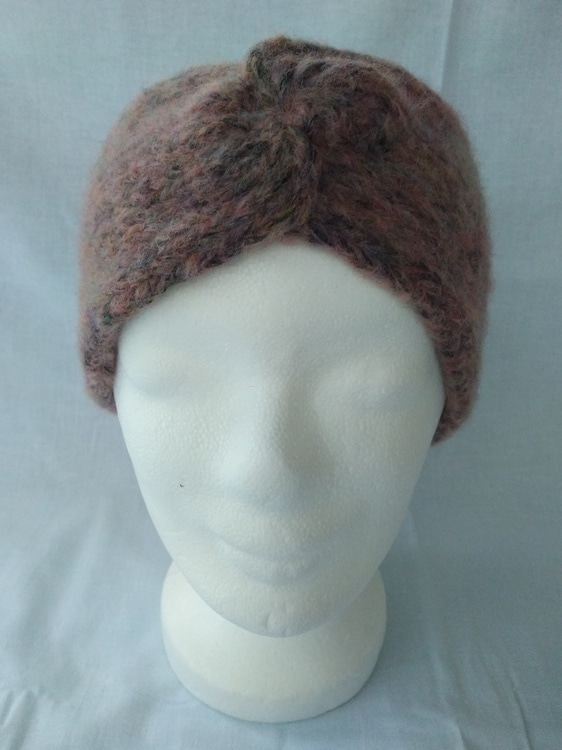 Stirnband - Größe S - blush/rose meliert