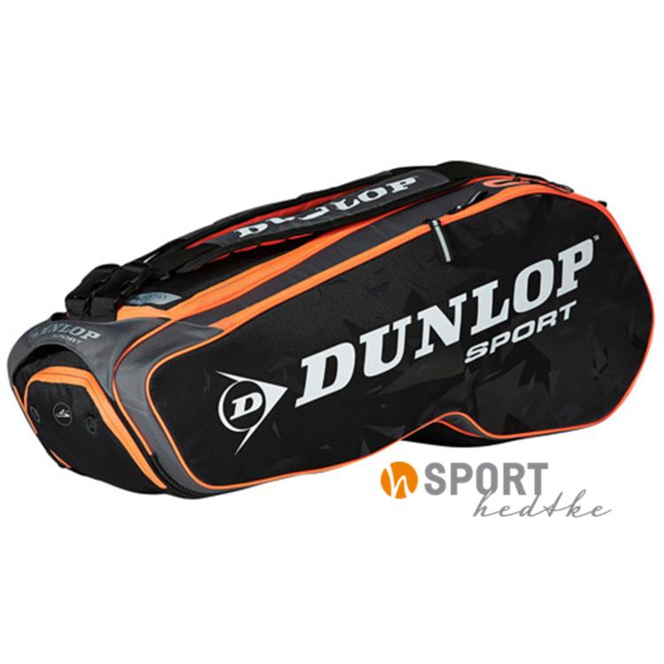 Dunlop Schlägertasche Performance 8 Racket Bag schwarz/grau/fluo-orange